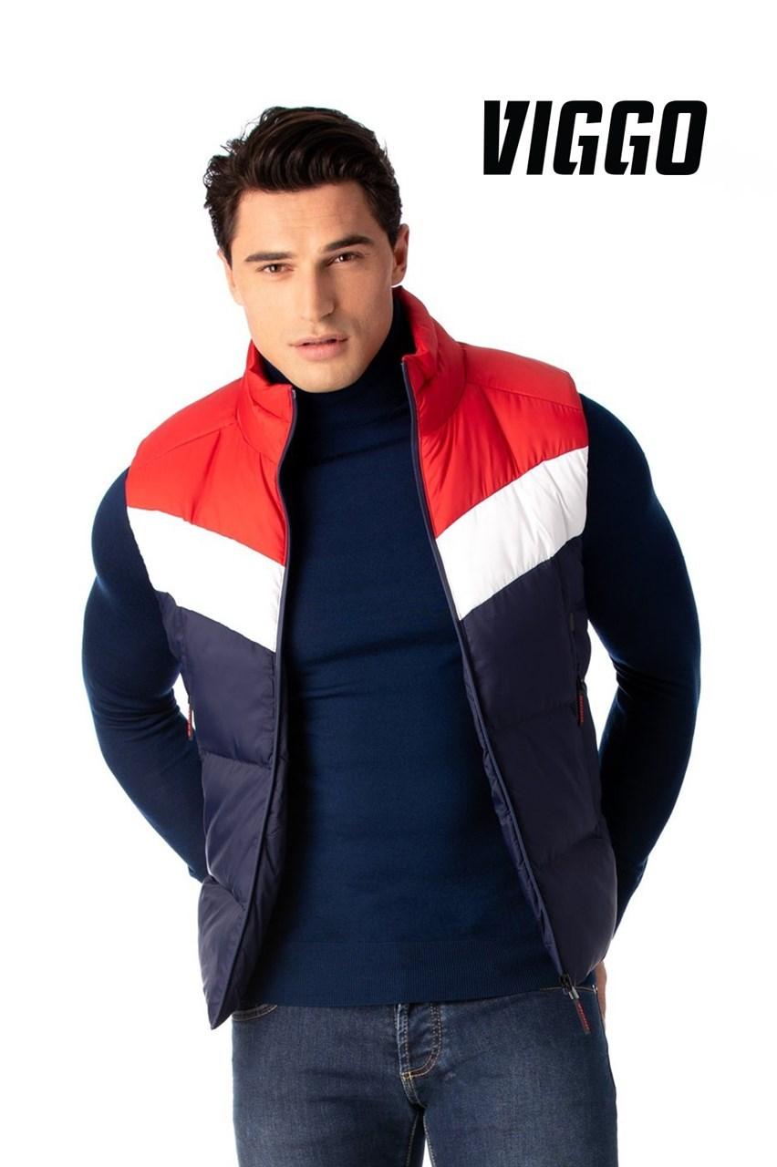 Vesta sport navy cu alb si rosu imagine